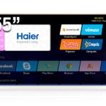 "HAIER SMART TV UHD 55"" LE55U6600DUA"