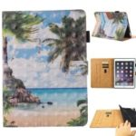 Light Spot Decor Patterned Card Slot Stand PU Leather Case for iPad mini (2019) 7.9 inch – Sea Scene
