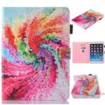 Patterned Card Slots Leather Tablet Cover for iPad mini (2019) 7.9 inch – Colorful Storm