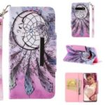 Pattern Printing Wallet Leather Magnetic Flip Casing for Samsung Galaxy S10 – Wind Bell