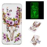 Noctilucent IMD TPU Cell Phone Case for Samsung Galaxy M10 – Flowered Elk
