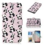 For Samsung Galaxy S10 Embossment Patterned Leather Wallet Phone Cover – Pandas