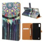 Pattern Printing Leather Wallet Case for Samsung Galaxy M10 – Dream Catcher