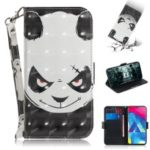 Pattern Printing Light Spot Decor Leather Wallet Case for Samsung Galaxy M10 – Panda Pattern