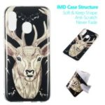 Noctilucent Patterned IMD TPU Mobile Phone Case Accessory for Samsung Galaxy A40 – Elk Pattern