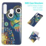 Noctilucent Patterned IMD TPU Back Phone Casing for Samsung Galaxy A50 – Owl Pattern