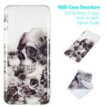 Pattern Printing IMD TPU Case for Samsung Galaxy A50 – Skull and Flower