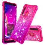 Gradient Glitter Powder Quicksand TPU Phone Case for Samsung Galaxy A9 (2018) – Rose / Purple