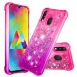 Gradient Glitter Powder Quicksand TPU Case for Samsung Galaxy M20 – Rose / Purple