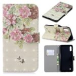 Light Spot Decor Patterned Leather Wallet Phone Cover for Samsung Galaxy M10 – Fresh Flowers