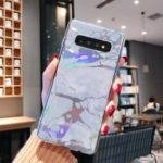 Laser Carving Marble Texture IMD TPU Mobile Case for Samsung Galaxy S10 Plus – Grey