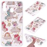 Glitter Sequins Inlaid Patterned TPU Phone Cover for Samsung Galaxy M30 – Unicorns
