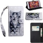 Pattern Printing Light Spot Decor Leather Wallet Case for Sony Xperia 10 Plus – Cat