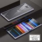 Magnetic Adsorption Tempered Glass + Metal Full Protection Case Cover for Sony Xperia 10 Plus – Grey