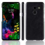 Litchi Texture PU Leather Coated PC Case for LG G8 ThinQ – Black