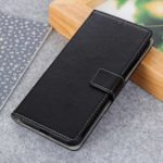 Litchi Texture Wallet Stand Leather Case for LG Q60 – Black