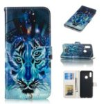 For Huawei Honor 10 Lite / P Smart (2019) Embossed Patterned Leather Wallet Protective Shell – Wolf