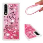 Dynamic Quicksand Shock-absorbing TPU Mobile Phone Cover Case for Huawei P30 – Pink