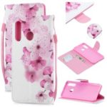 Pattern Printing Leather Wallet Case for Huawei P30 Lite / nova 4e – Pretty Flower