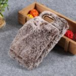 Soft Faux Fur Coated Rhinestone TPU Case for Huawei Honor View 20 / Honor V20 – Coffee