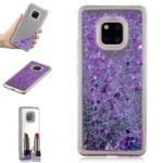 Glitter Dynamic Quicksand Mirror Surface TPU Mobile Phone Shell Case for Huawei Mate 20 Pro – Purple