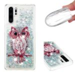 Patterned Dynamic Glitter Quicksand TPU Cell Phone Case for Huawei P30 Pro – Owl