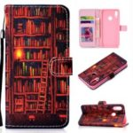 Pattern Printing Leather Wallet Stand Case for Huawei Honor 10 Lite – Bookshelf
