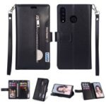 Multi-function Leather Wallet Case with Stand for Huawei P30 Lite – Black