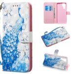[Light Spot Decor] Patterned Leather Mobile Phone Case for Huawei P30 Pro – Peacock