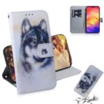 Pattern Printing Wallet Leather Cell Phone Case for Xiaomi Redmi Note 7 – Wolf