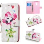 Patterned Leather Wallet Phone Shell [Light Spot Decor] for Xiaomi Pocophone F1 / Poco F1 (India) – Panda on Flower