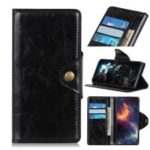 Textured PU Leather Wallet Stand Phone Case for Nokia 1 Plus – Black