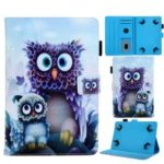 Universal Animal Patterned 8-inch PU Leather Stand Tablet Case for Huawei MediaPad T3 8.0 / iPad mini 5, etc – Owls