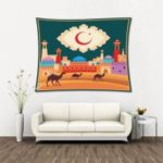Islamic Ramadan Festival Tapestry Wall Hanging Home Decor, Size: 1.5x2m – Style 1