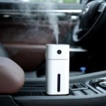Mini Desktop Car USB Air Humidifier with Atmosphere Lamp – White