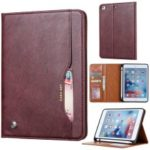 PU Leather Stand Wallet Protective Case with Pen Slot for iPad mini (2019) 7.9 inch / mini 3 / mini 2 / mini – Wine Red