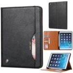 PU Leather Stand Wallet Protective Case with Pen Slot for iPad mini (2019) 7.9 inch/iPad 9.7-inch (2018)/9.7-inch (2017)/Air (2013) – Black