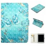 Embossment Patterned  Light Spot Decor Leather Cover for iPad 9.7-inch / Pro 9.7 inch (2016) / Air (2013) / Air 2 – Blue Butterfly
