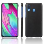 KSQ Crazy Horse PU Leather Coated Hard PC Case for Samsung Galaxy A40 – Black