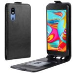Crazy Horse Vertical Flip Leather Protective Case for Samsung Galaxy A2 Core – Black
