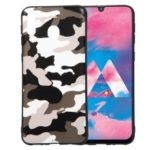 For Samsung Galaxy M30/A40s Camouflage Pattern TPU Phone Case – White