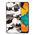Camouflage Pattern TPU Mobile Phone Cover for Samsung Galaxy A20 / A30 – White