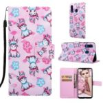 Pattern Printing Wallet Leather Stand Cover for Samsung Galaxy A30/A20 – Unicorns and Flower