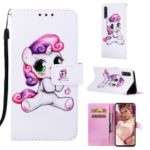 Pattern Printing Wallet Stand Leather Case for Samsung Galaxy A70 – Lovely Unicorn