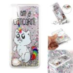 Embossment Pattern Quicksand TPU Back Phone Cover for Samsung Galaxy A10 / M10 – Cat Unicorn