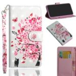 Pattern Printing Light Spot Decor Leather Wallet Cover for Samsung Galaxy A20e – Flowered Tree