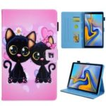 Pattern Printing Stand Leather Tablet Protective Case for Samsung Galaxy Tab S5e SM-T720 / SM-T725 – Cats
