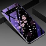 Eletroplating TPU Frame + Blue-ray Tempered Glass+ PC Back Plate Hybrid Case for Samsung Galaxy S10 Plus – Peach Blossom