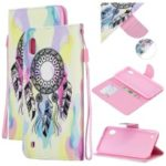 Pattern Printing Leather Wallet Case for Samsung Galaxy A50 – Dream Catcher