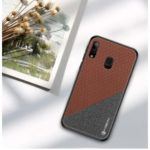 PINWUYO Honor Series PU Leather Coated TPU Cover for Samsung Galaxy A20e – Brown